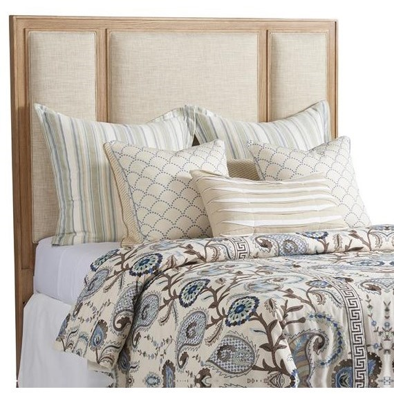 Newport  Crystal Cove Upholstered Panel Headboard by Barclay Butera at Baer's Furniture