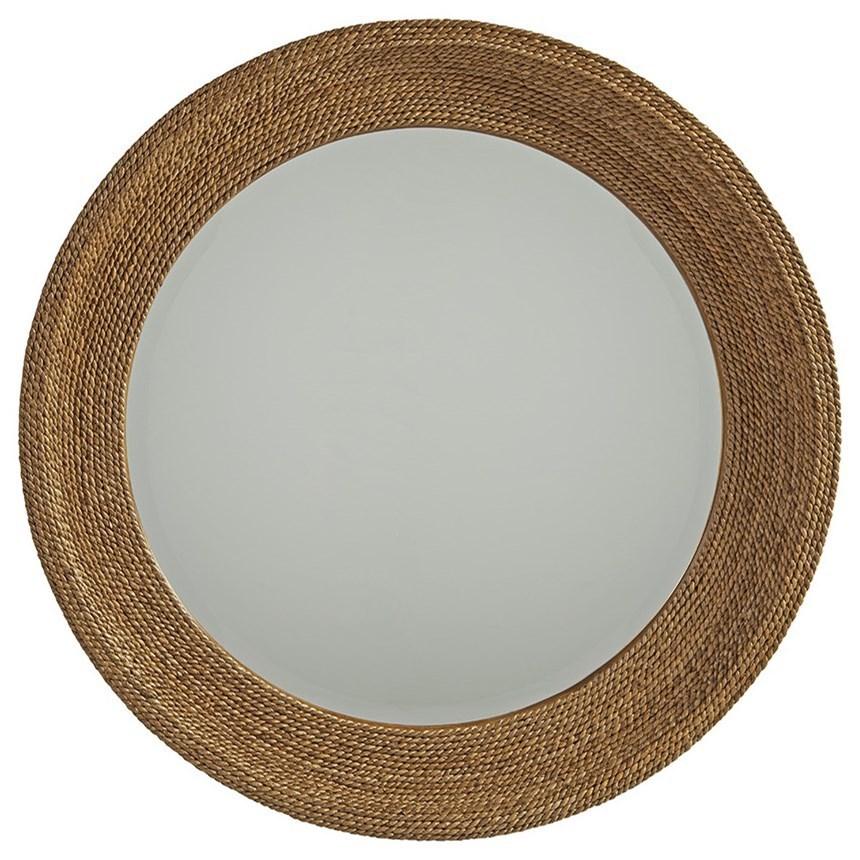 Newport La Jolla Woven Round Mirror by Barclay Butera at Baer's Furniture