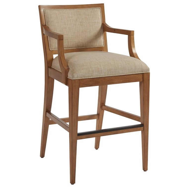 Newport Eastbluff Bar Stool (married) by Barclay Butera at Baer's Furniture