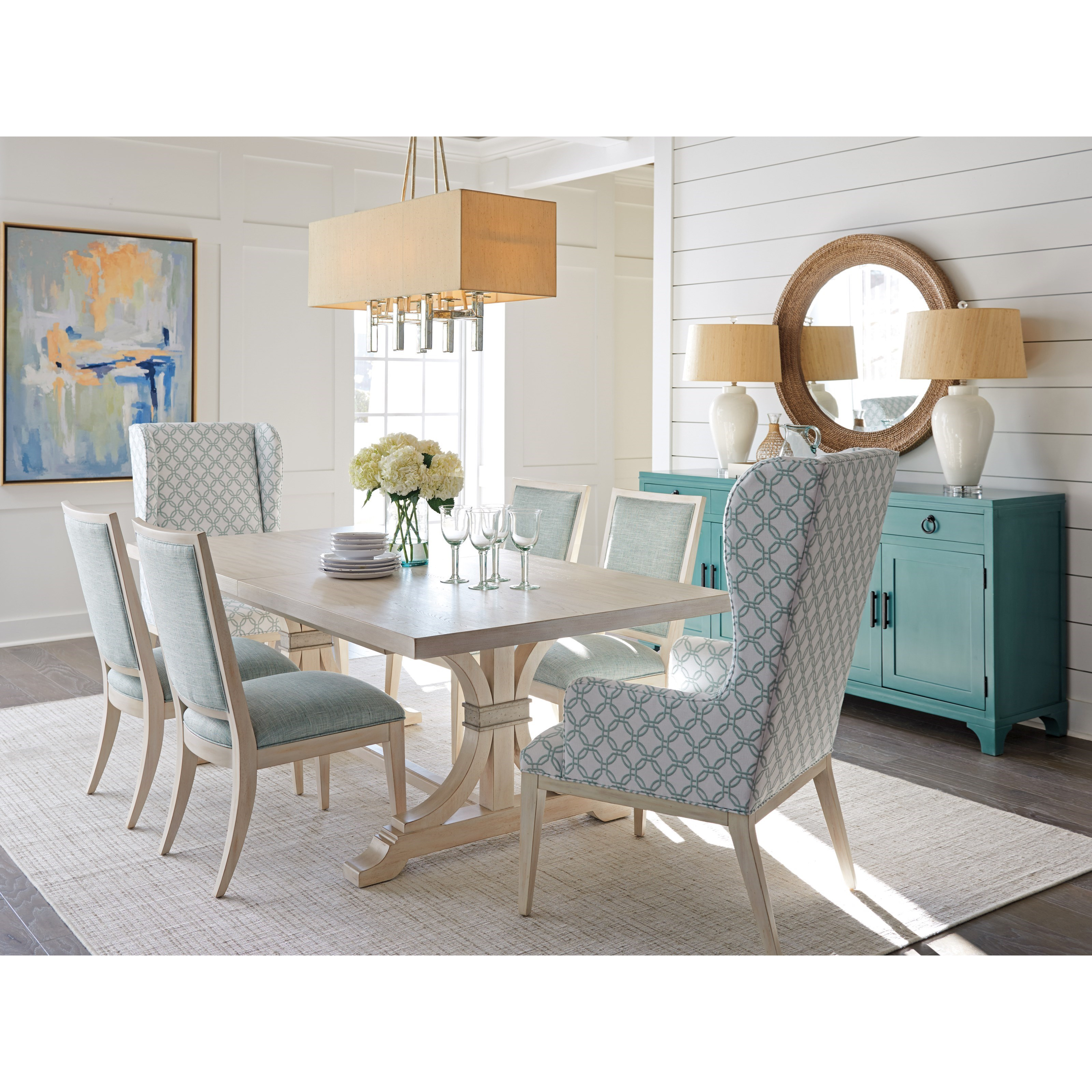 Newport Formal Dining Group by Barclay Butera at Baer's Furniture