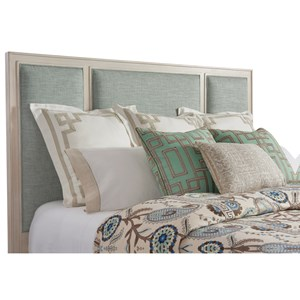 Crystal Cove Queen Size Upholstered Panel Headboard in Custom Fabric