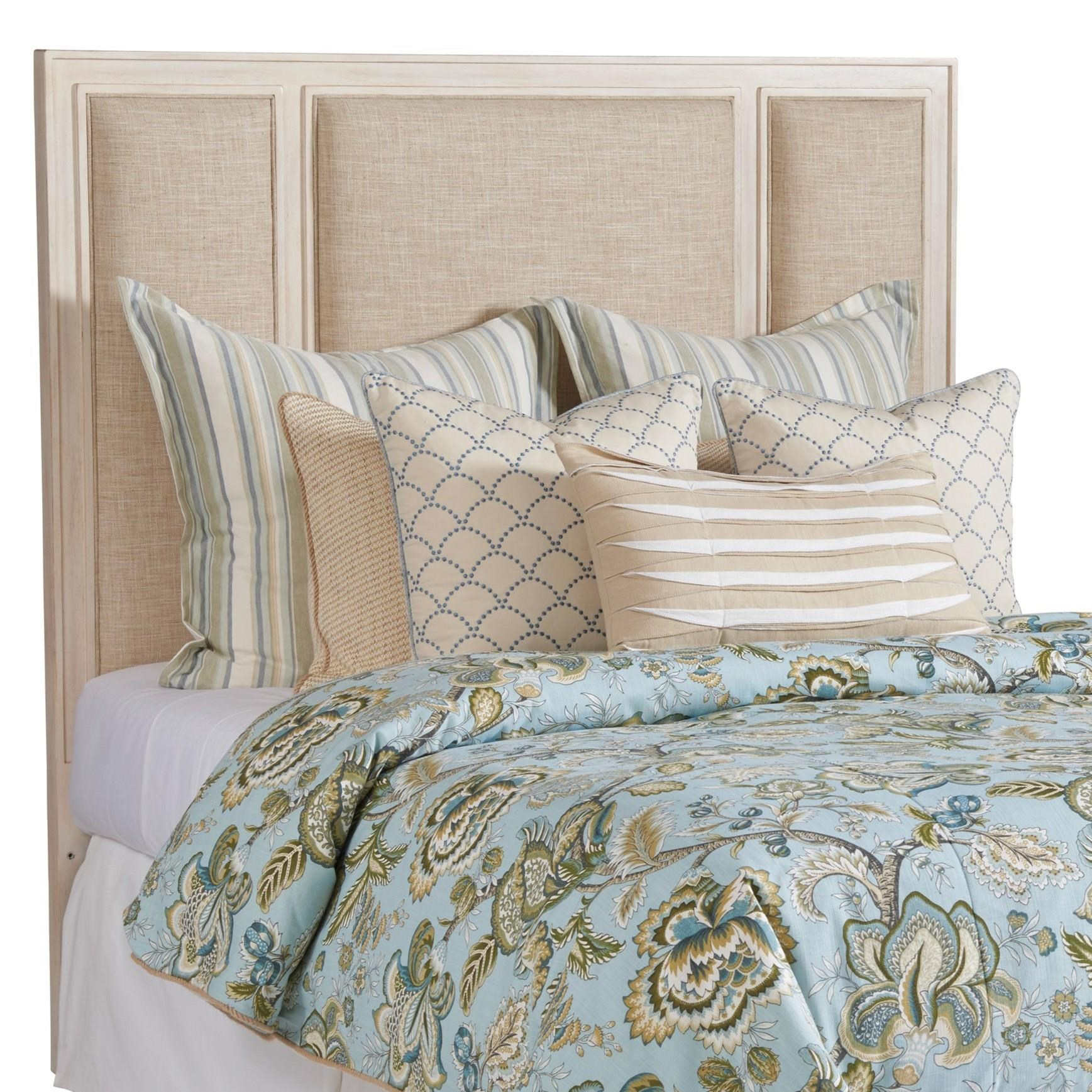 Newport Crystal Cove Upholstered Panel Hbd  6/6 by Barclay Butera at Baer's Furniture