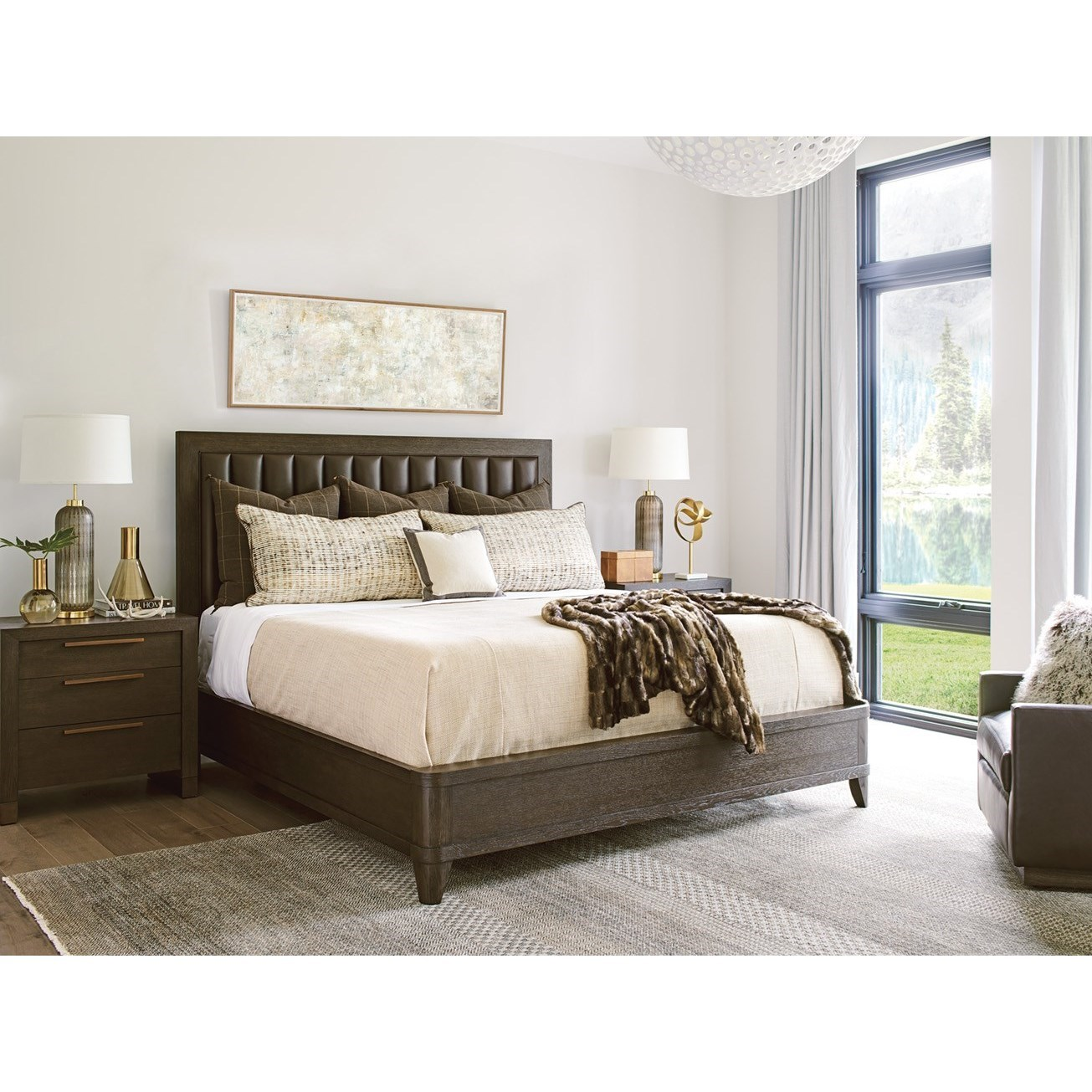 Park City Queen Bedroom Group by Barclay Butera at Baer's Furniture