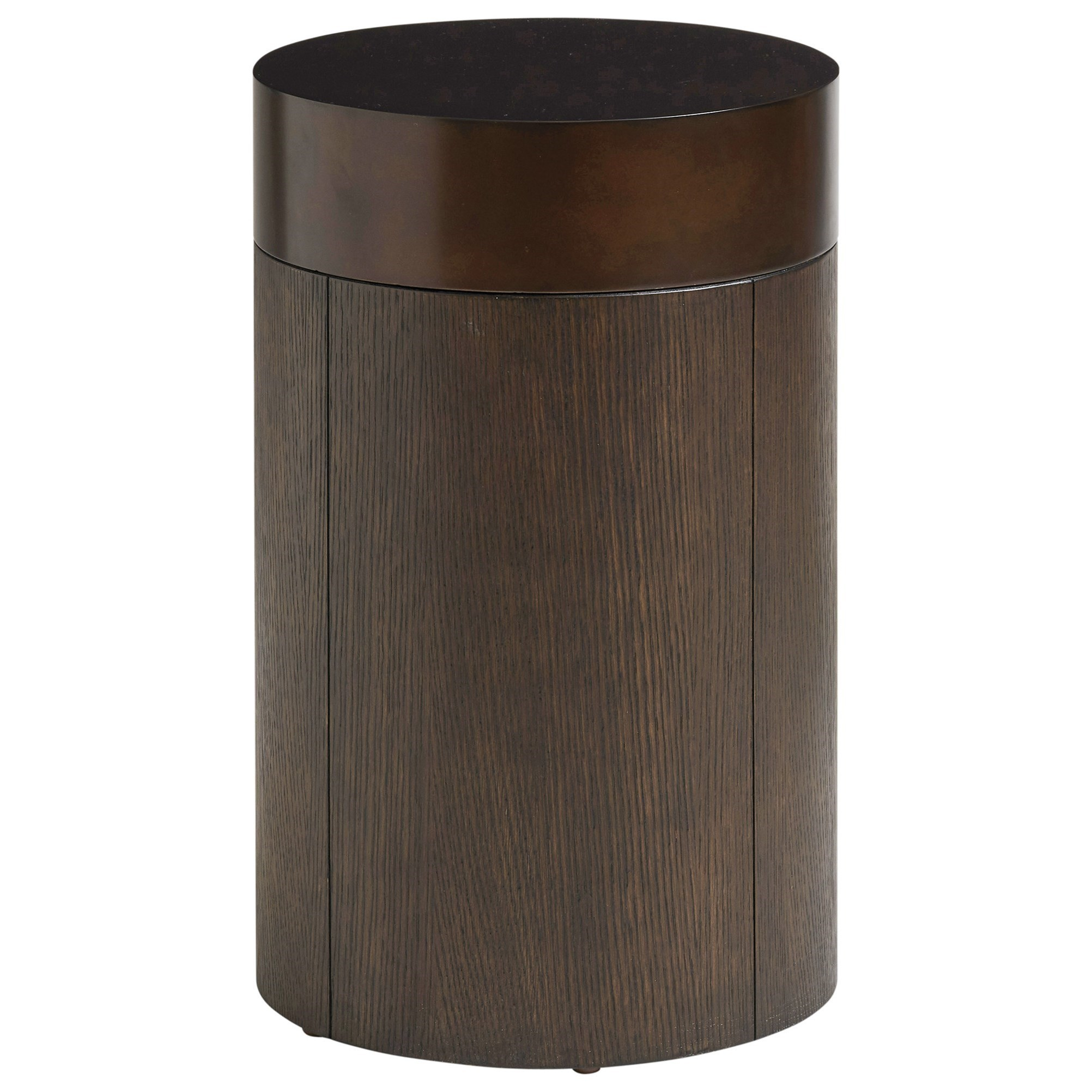 Park City Black Diamond Round End Table by Barclay Butera at Baer's Furniture