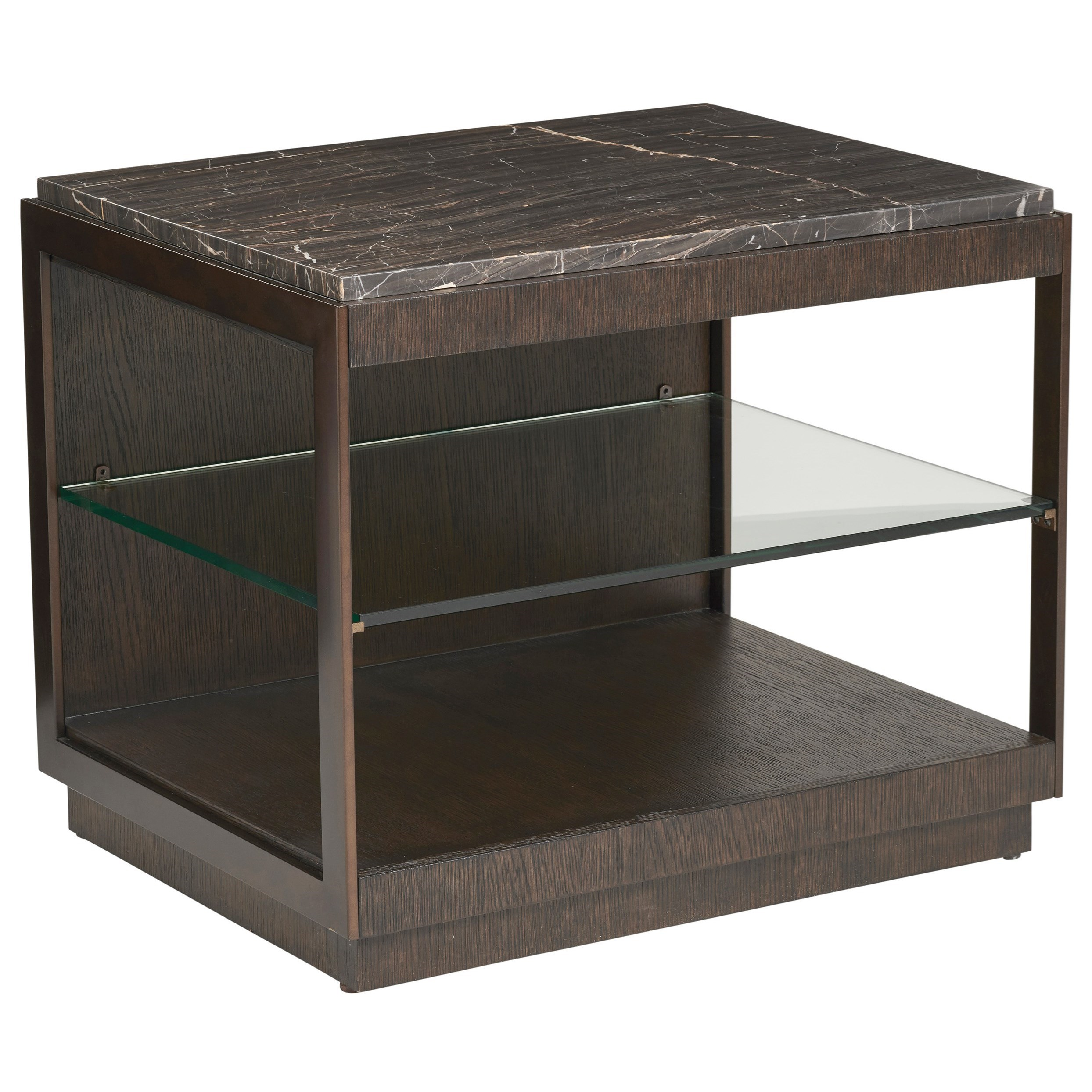 Park City Summit Rectangular End Table by Barclay Butera at Baer's Furniture