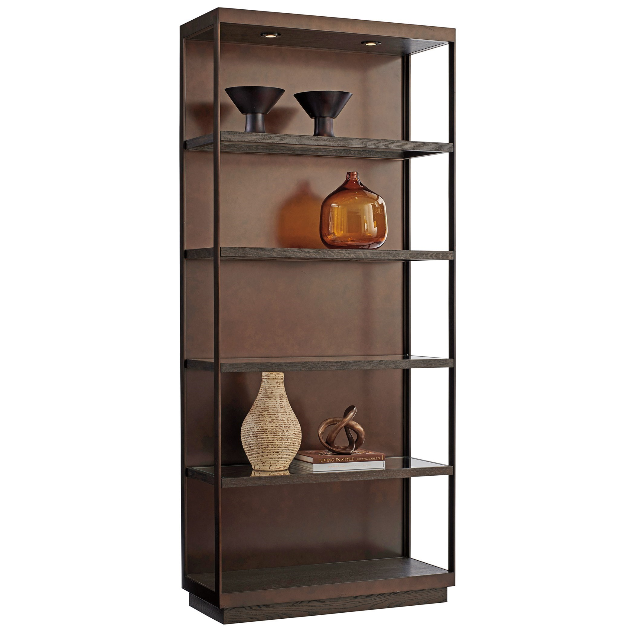 Park City Sugarloaf Etagere by Barclay Butera at Baer's Furniture