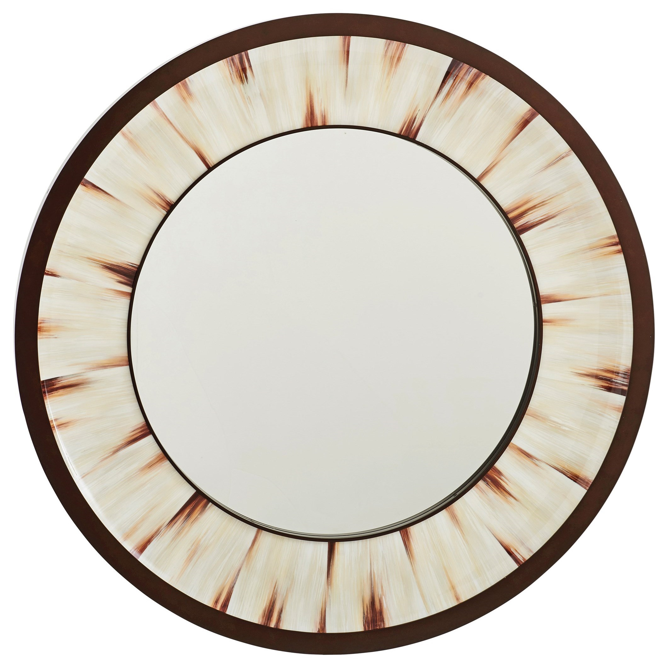 Park City Academy Round Mirror by Barclay Butera at Baer's Furniture