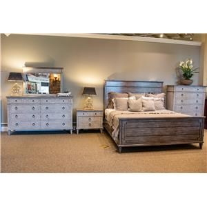 Queen Bed, Dresser, Mirror, & Nightstand