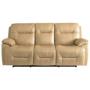 Casual Power Reclining Lay-Flat Sofa with Power Headrests & USB Ports