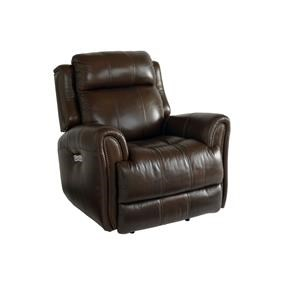 Bassett Marquee Chocolate Lthr Pwr Wall Recliner w/Pwr Head