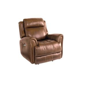Bassett Marquee Leather Pwr Wall Recliner w/Pwr Headrest