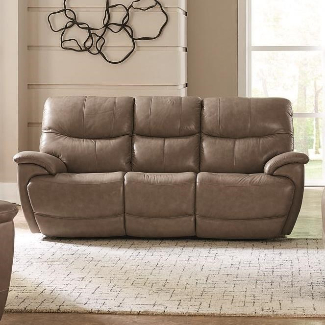 Brookville Power Reclining Sofa by Bassett at Furniture Superstore - Rochester, MN