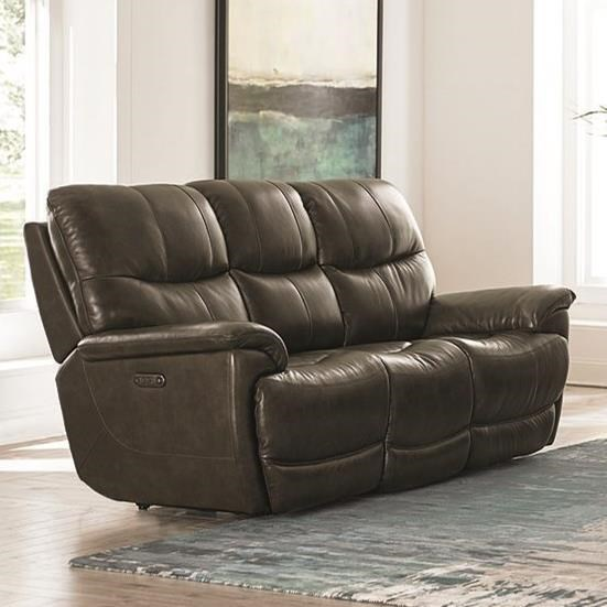 Brookville Power Reclining Sofa by Bassett at Fashion Furniture
