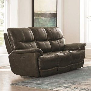 Casual Power Reclining Sofa with Power Headrests and USB Port