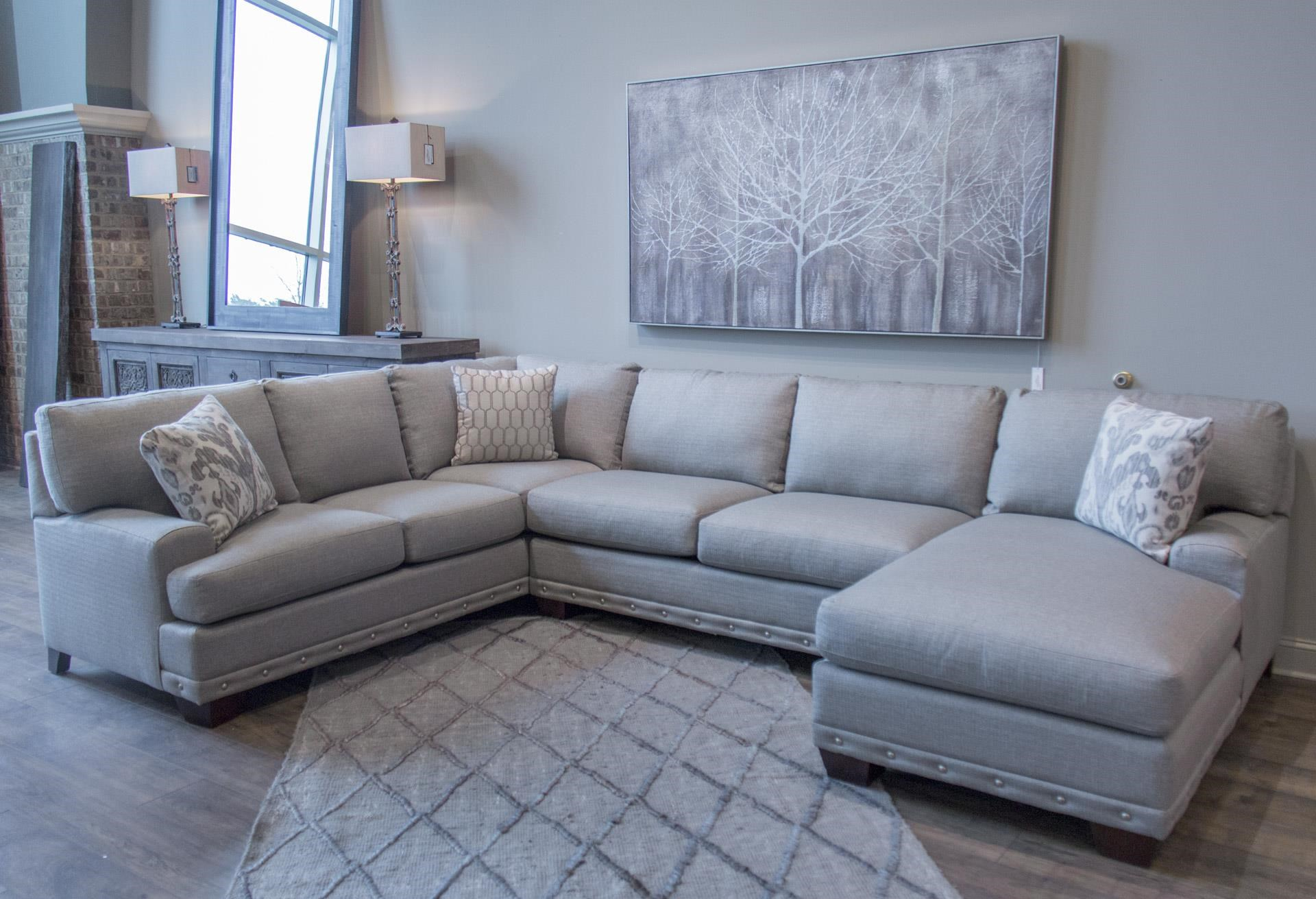 Three Piece Sectional with RAF Chaise