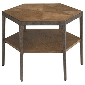 Contemporary Hexagon Bunching Cocktail Table