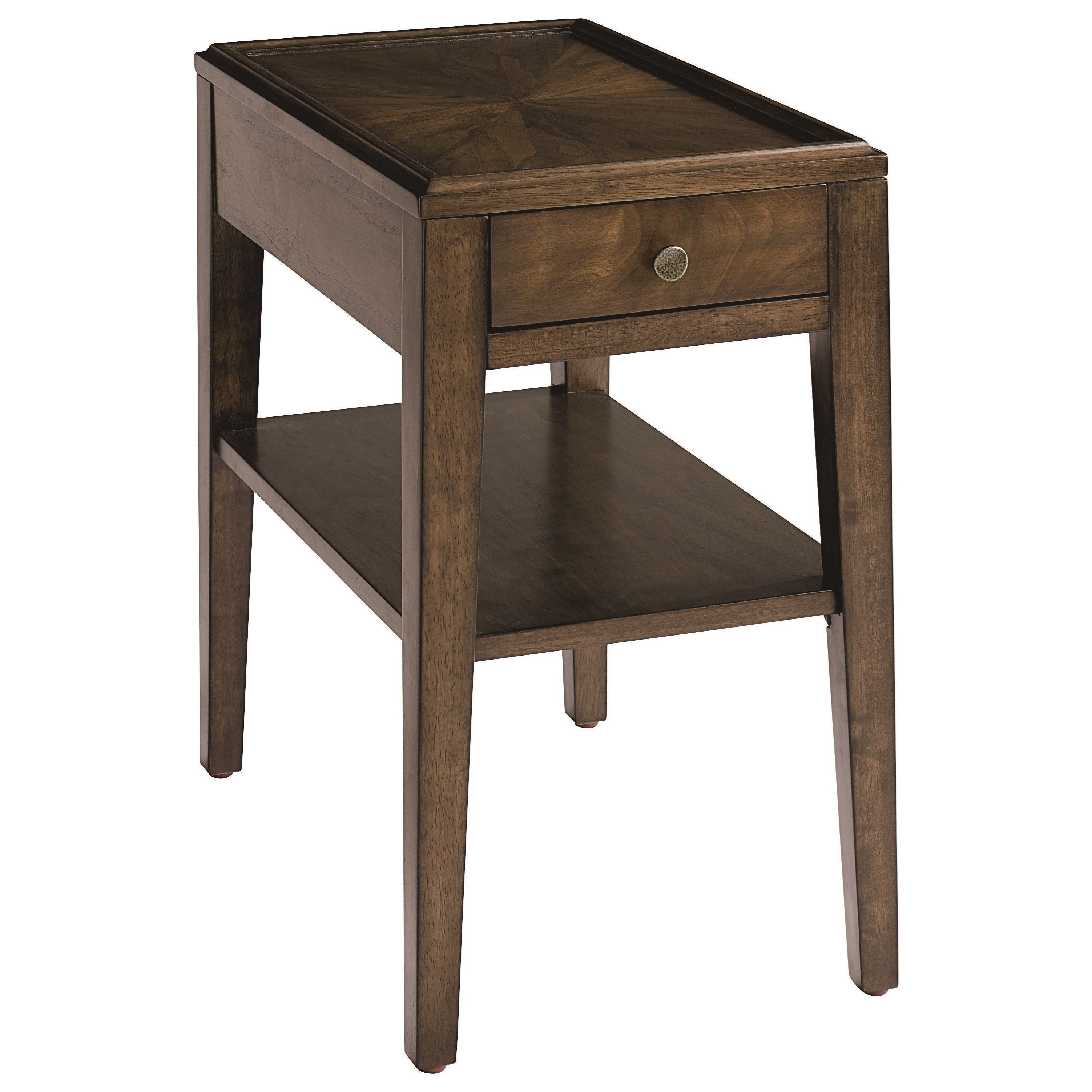 Palisades Chairside Table by Bassett at Furniture Superstore - Rochester, MN