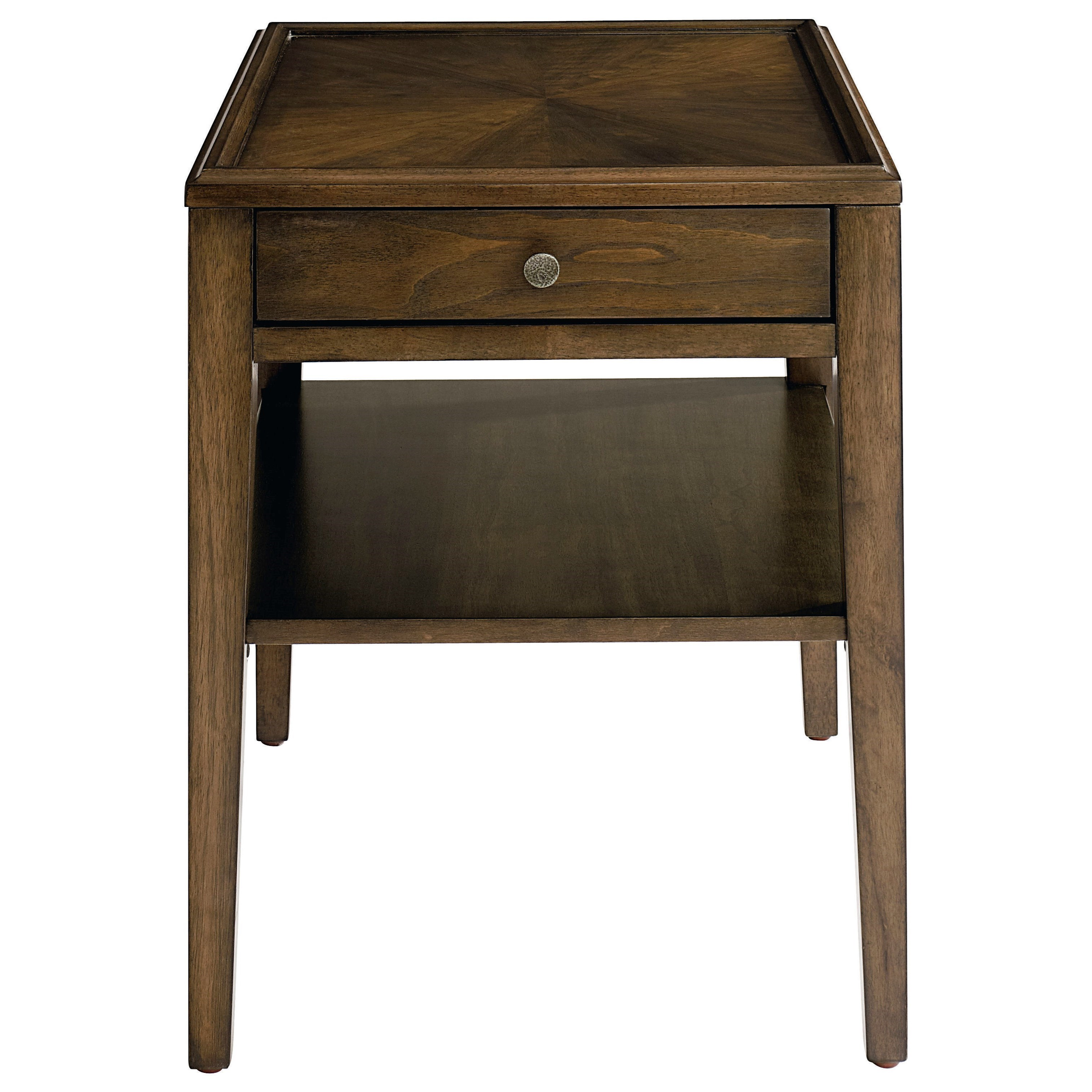 Palisades End Table by Bassett at Fashion Furniture