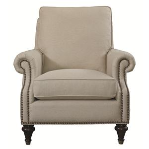 Traditional Accent Chair with Nailhead Trim