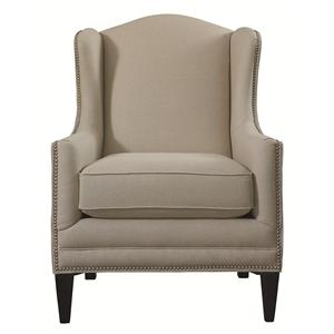 Fleming Accent Chair with Wing Back