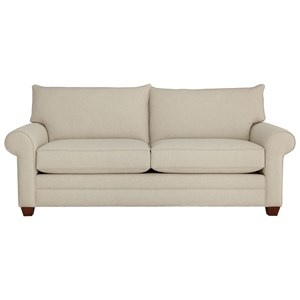 Casual 2-Cushion Sofa with Rolled Arms