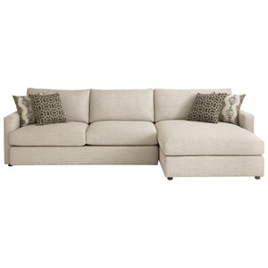 Contemporary Sectional with Right Arm Facing Chaise