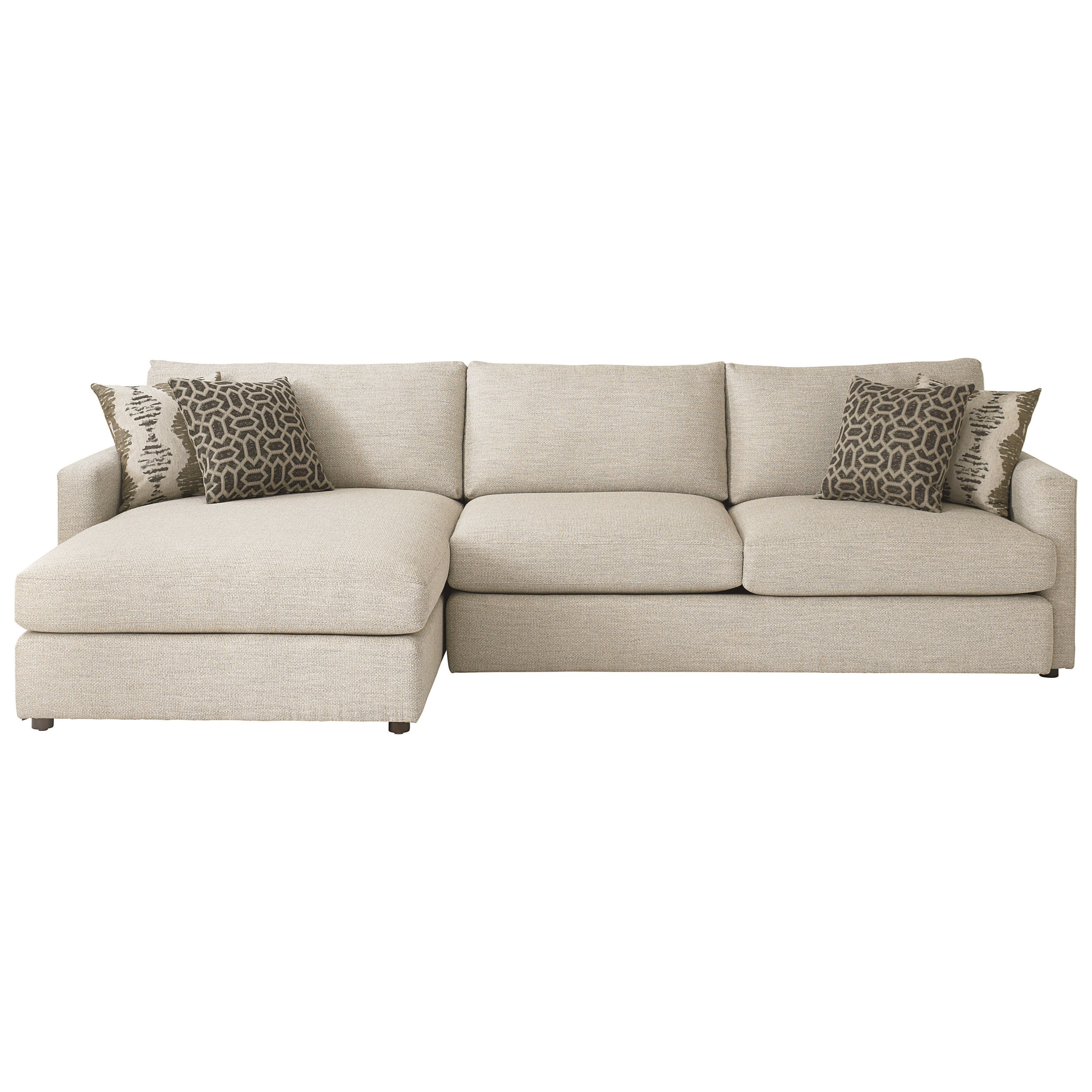 Allure Sectional with Left Arm Facing Chaise by Bassett at Williams & Kay