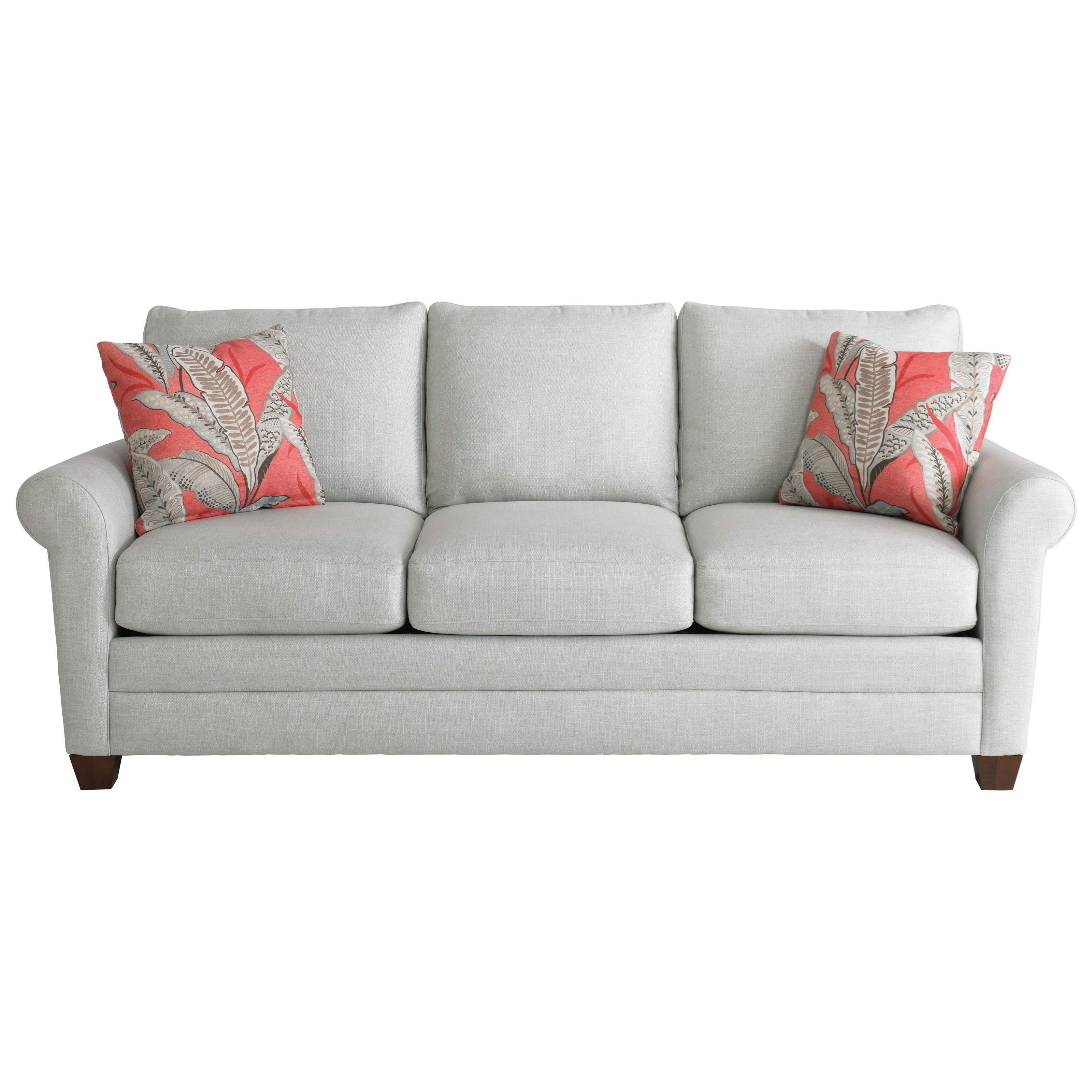 Andrew Queen Sleeper Sofa by Bassett at Esprit Decor Home Furnishings