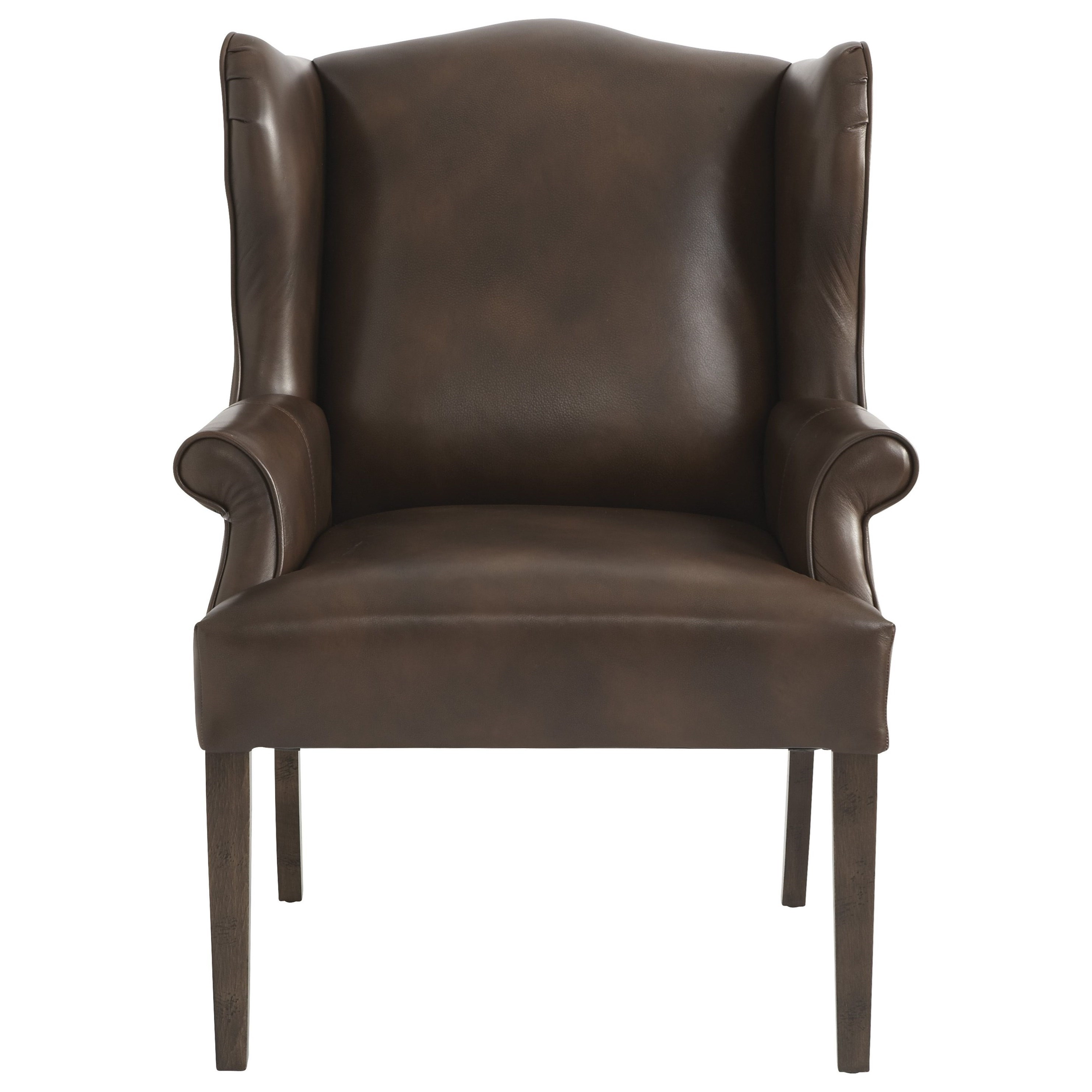 Arden Leather Dining Chair by Bassett at H.L. Stephens