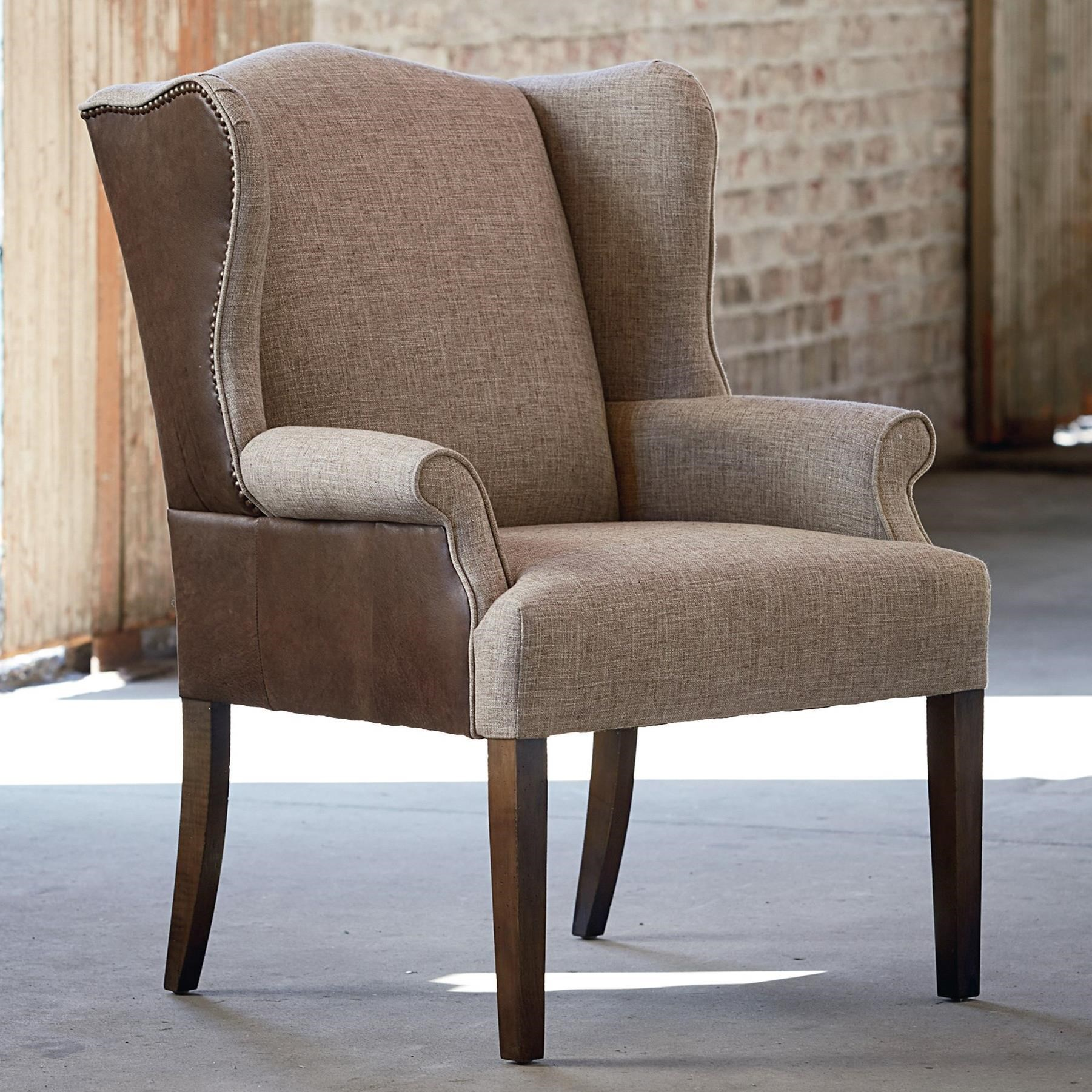 Arden Leather/Fabric Dining Chair by Bassett at H.L. Stephens