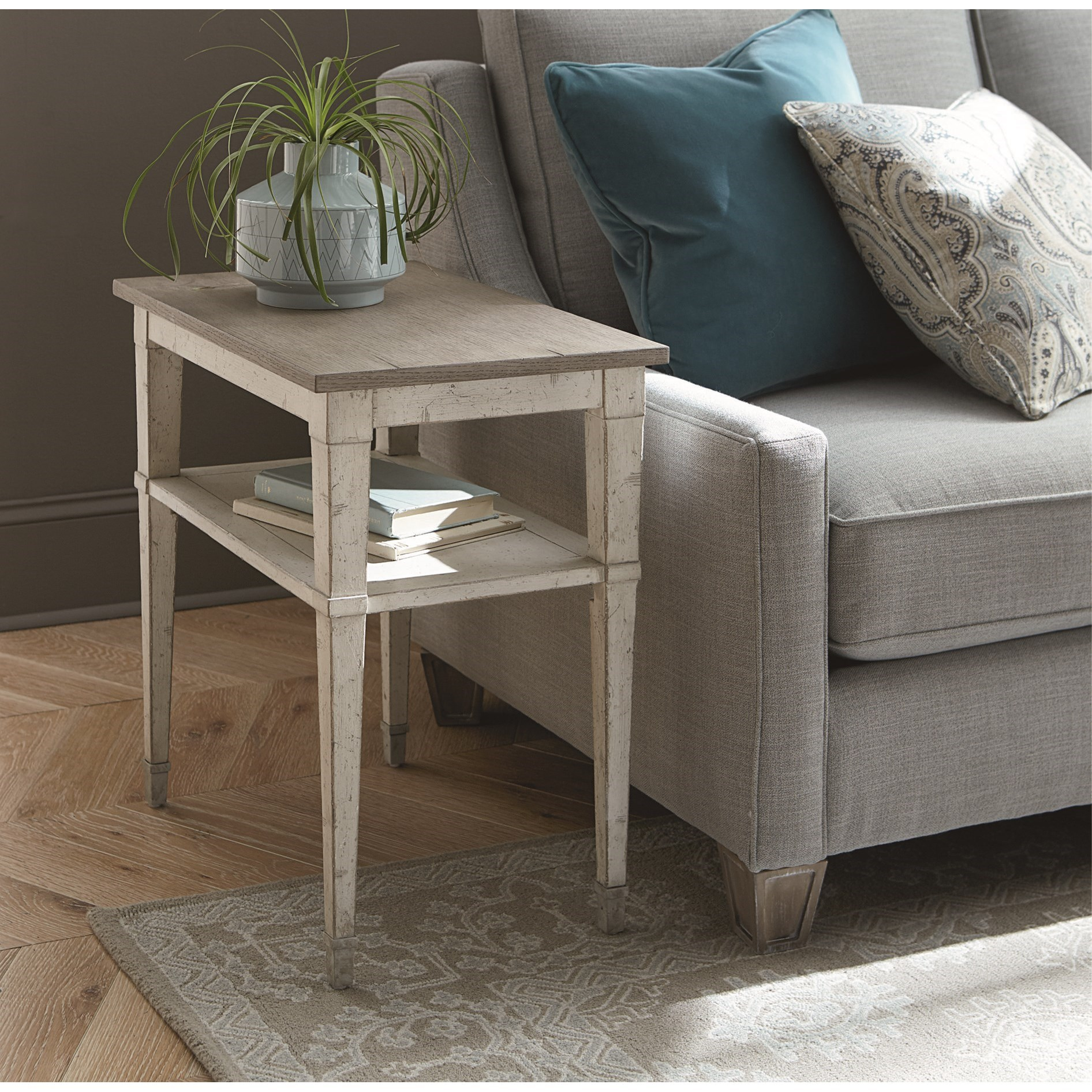 Bella Chairside Table by Bassett at Bassett of Cool Springs