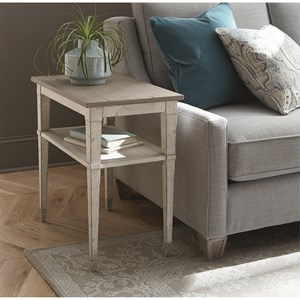 Cottage Chairside Table with Shelf