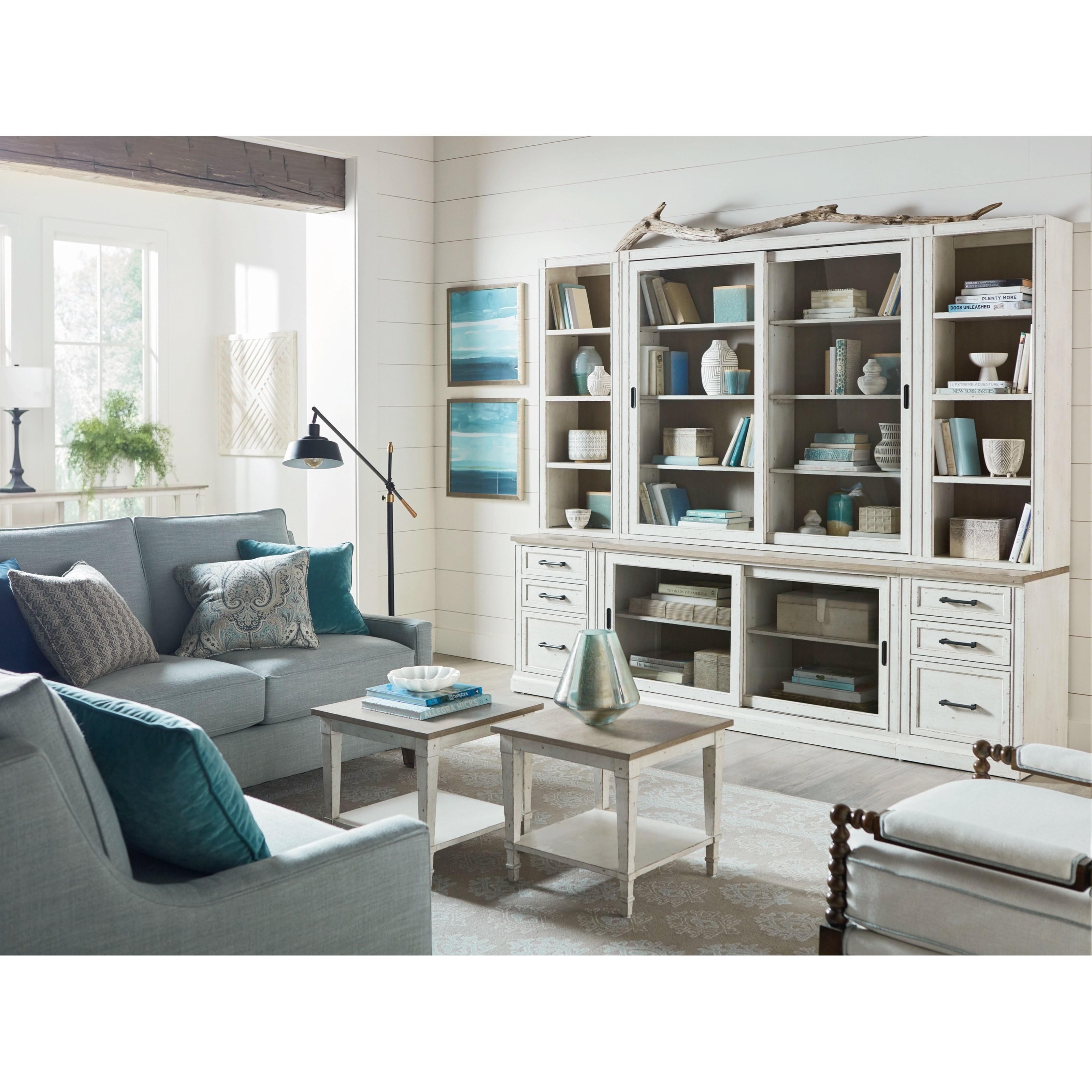 Bella Wall Bookcase by Bassett at Suburban Furniture
