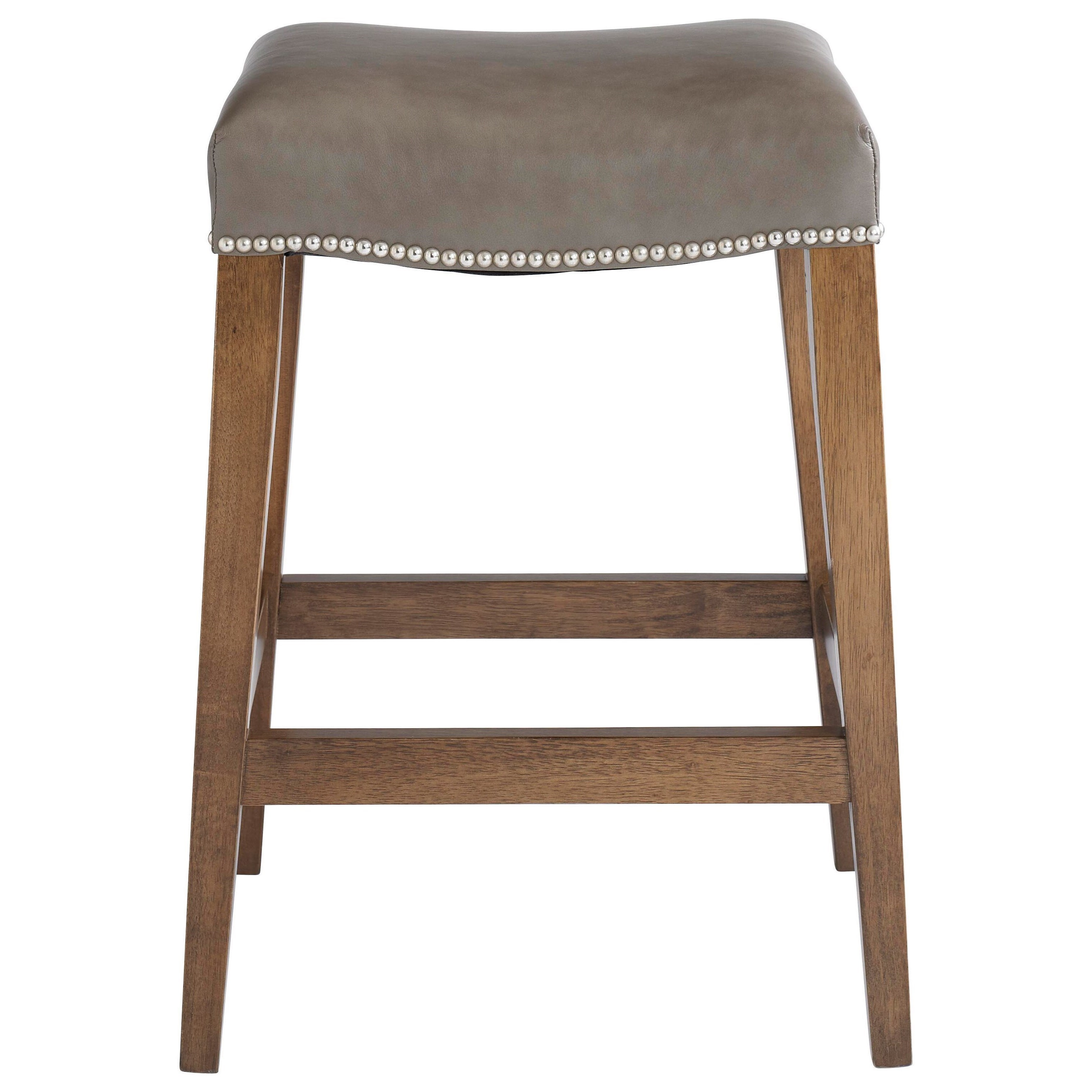 Bench Made Maple Counter Saddle Stool by Bassett at Bassett of Cool Springs