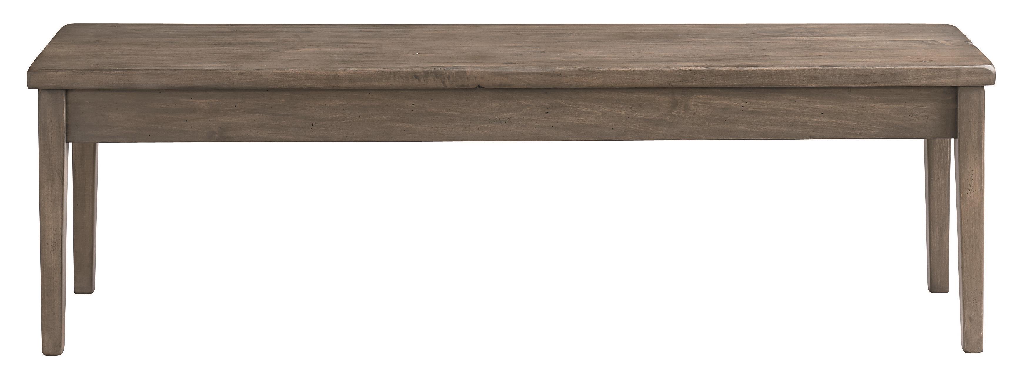 "Bench Made Maple 60"" Hearthside Bench by Bassett at Bassett of Cool Springs"