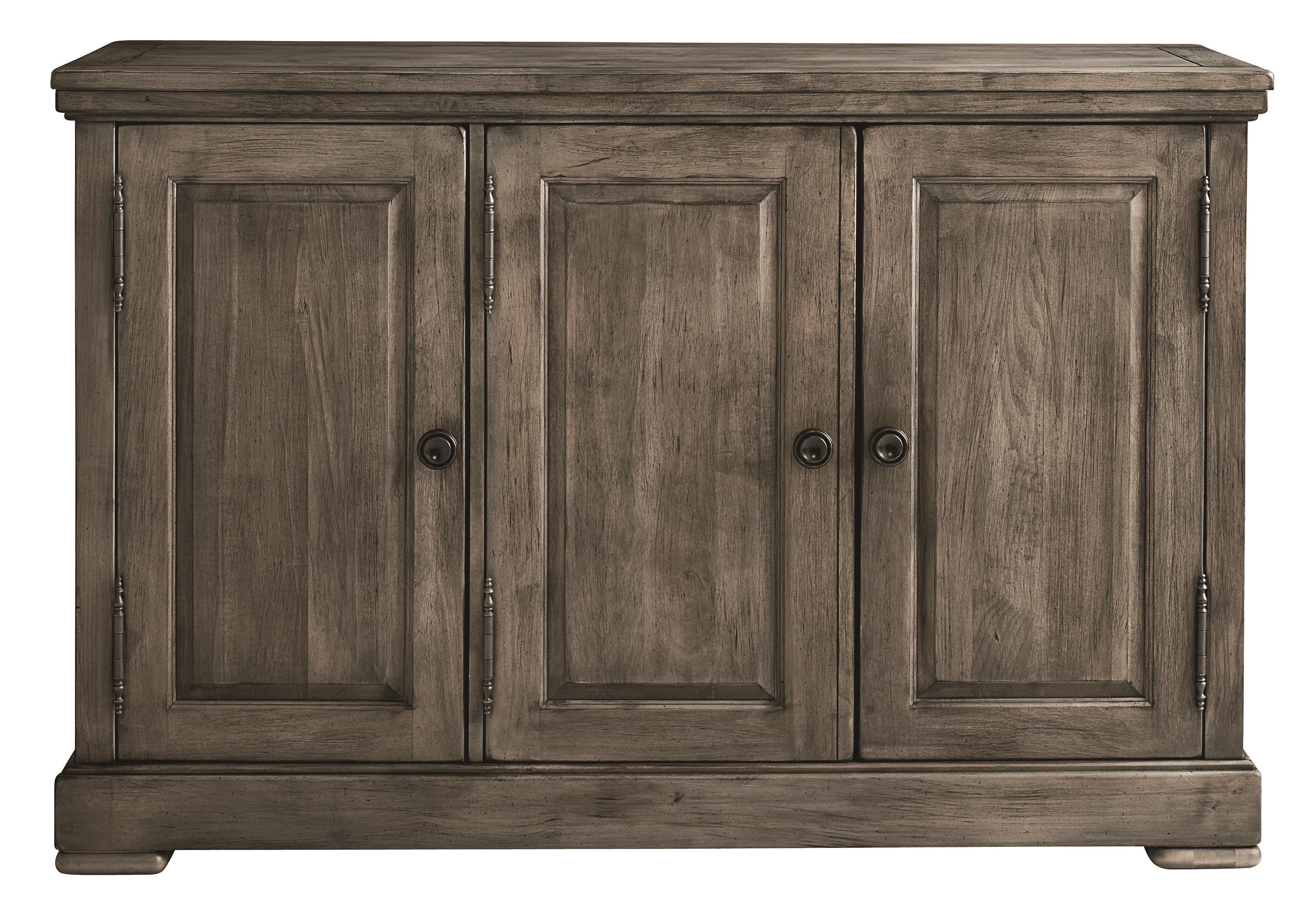 Bench Made Maple Three Door Hawkins Huntboard by Bassett at Bassett of Cool Springs