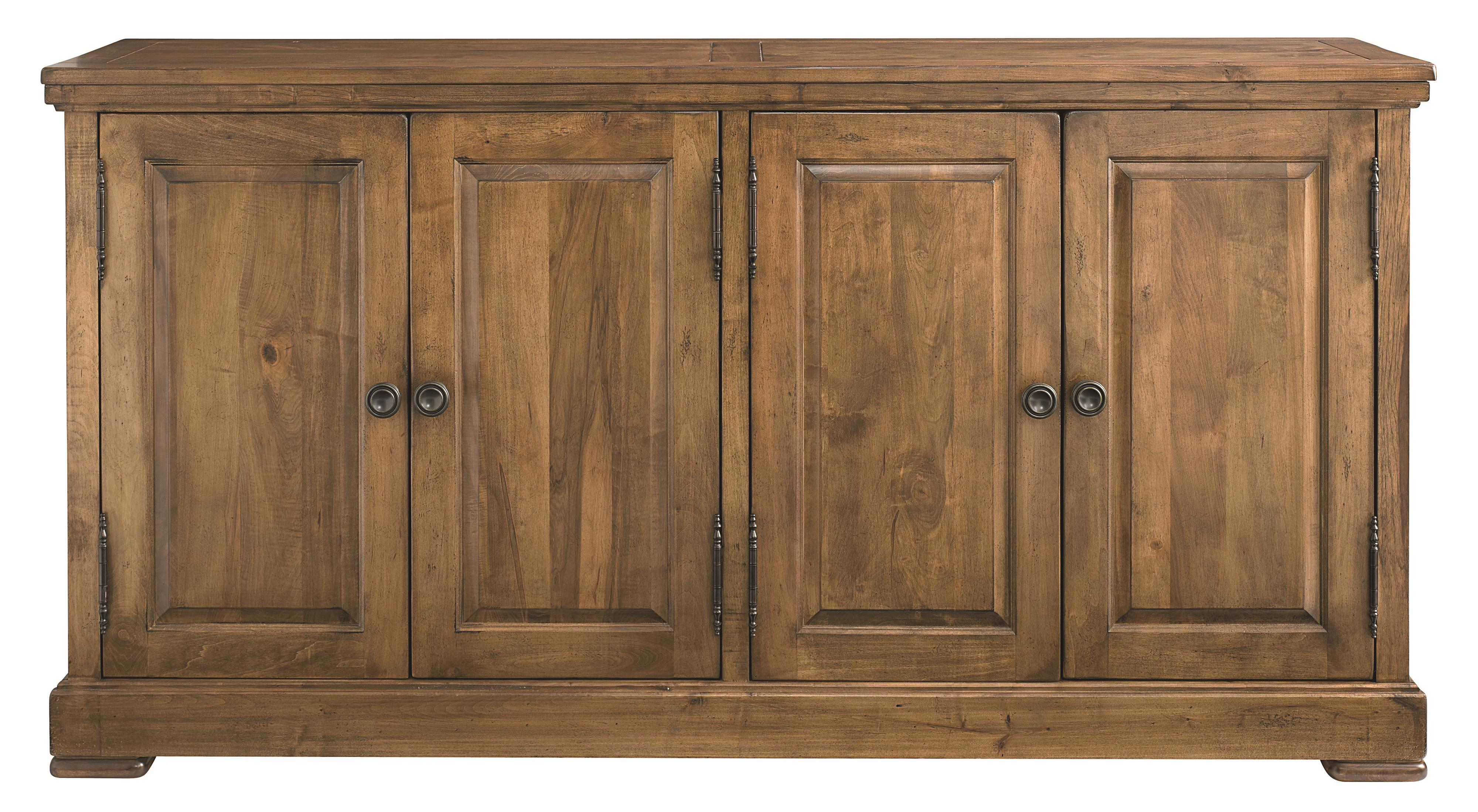 Bench Made Maple Four Door Hawkins Huntboard by Bassett at Bassett of Cool Springs