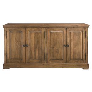 Bassett Bench Made Maple Four Door Hawkins Huntboard