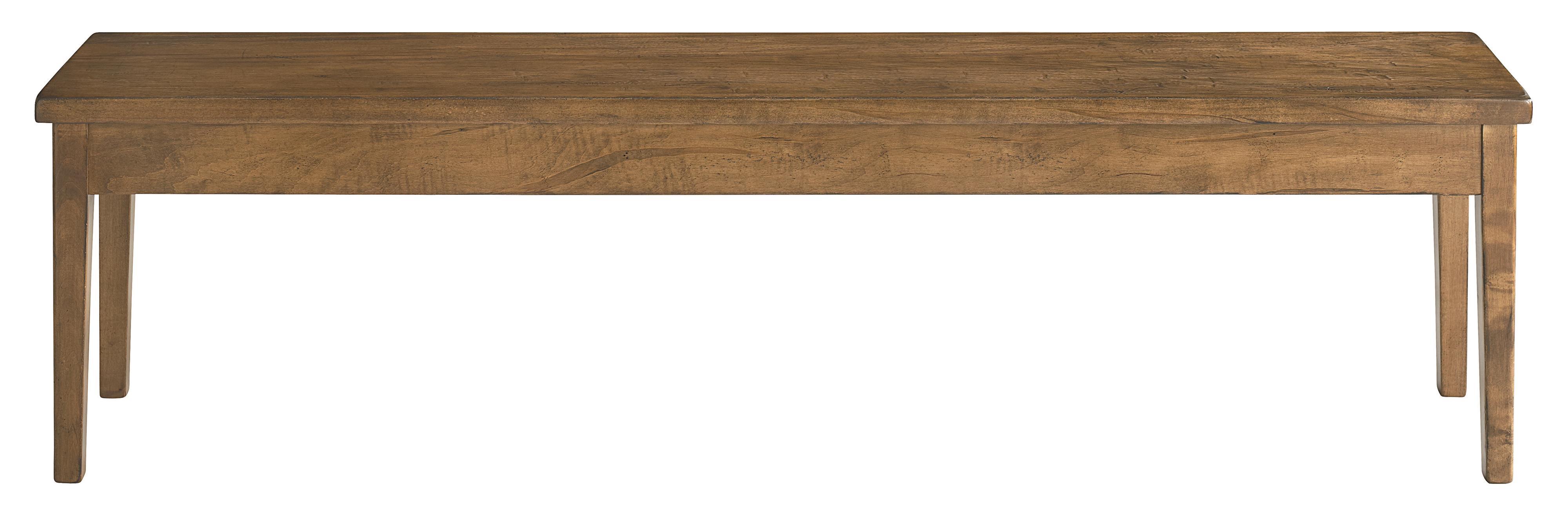 "Bench Made Maple 70"" Hearthside Bench by Bassett at Bassett of Cool Springs"