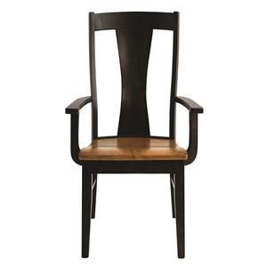 Bassett Bench Made Maple Boone Arm  Chair