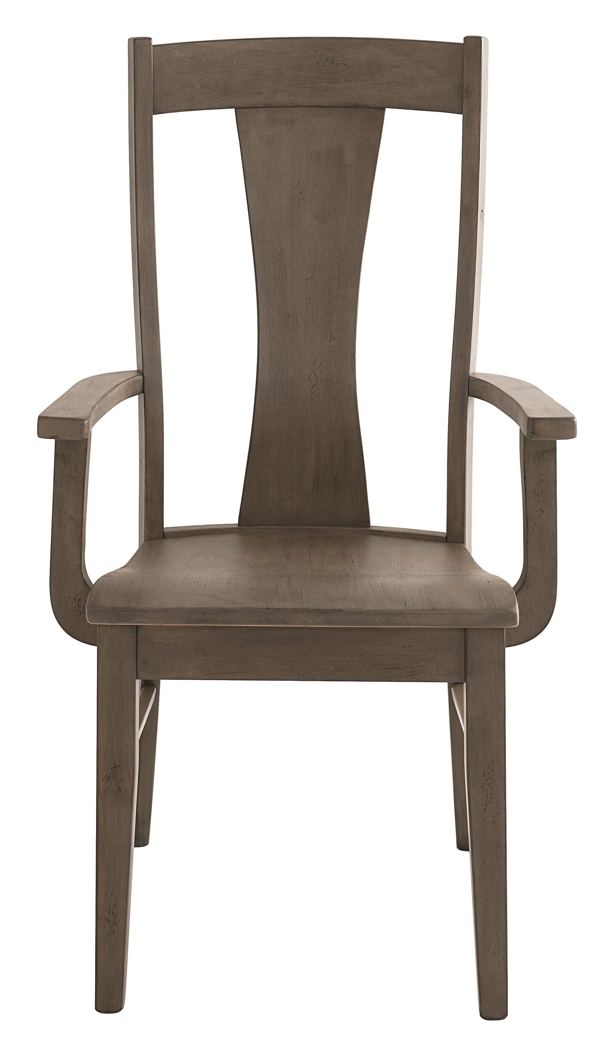 Bench Made Maple Boone Arm  Chair by Bassett at Bassett of Cool Springs