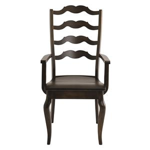 Greyson Arm Chair with Elegant Styled Back