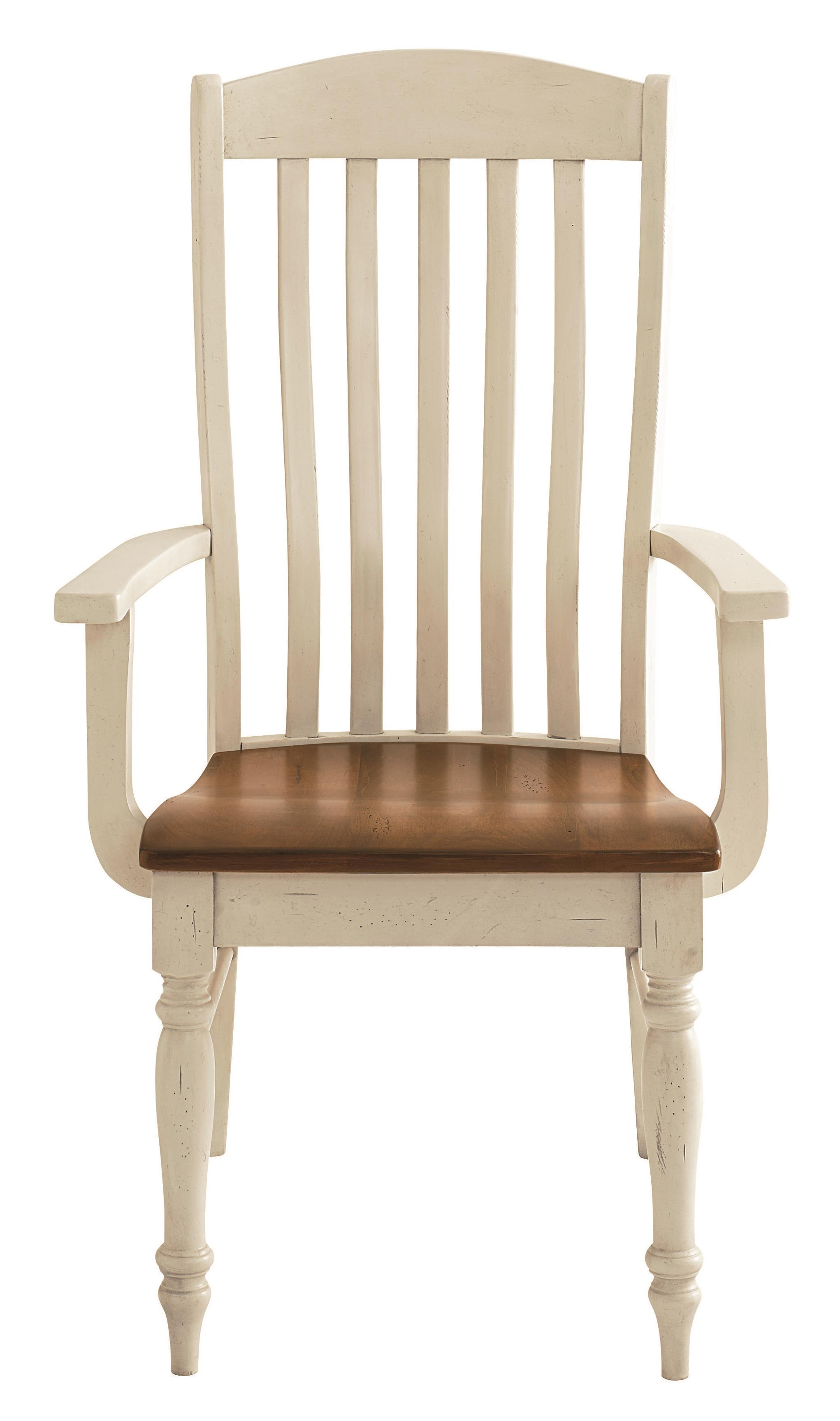 Bench Made Maple Henry Arm Chair by Bassett at Bassett of Cool Springs