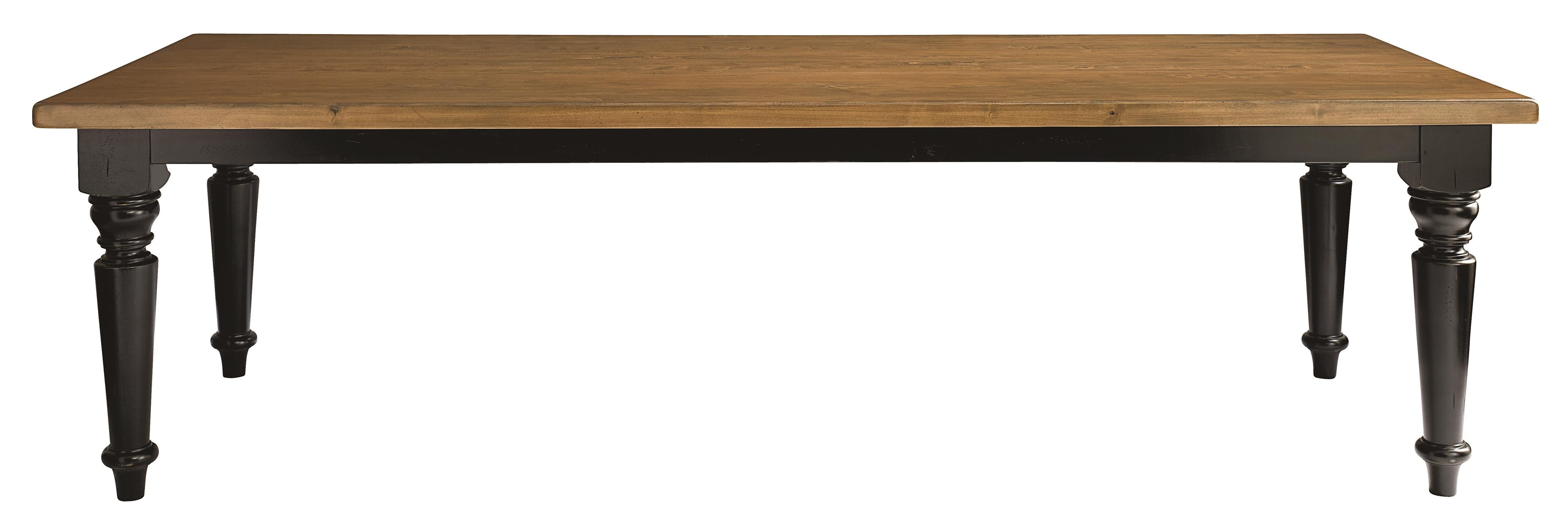 """Bench Made Maple 108"""" Farmhouse Table by Bassett at Bassett of Cool Springs"""