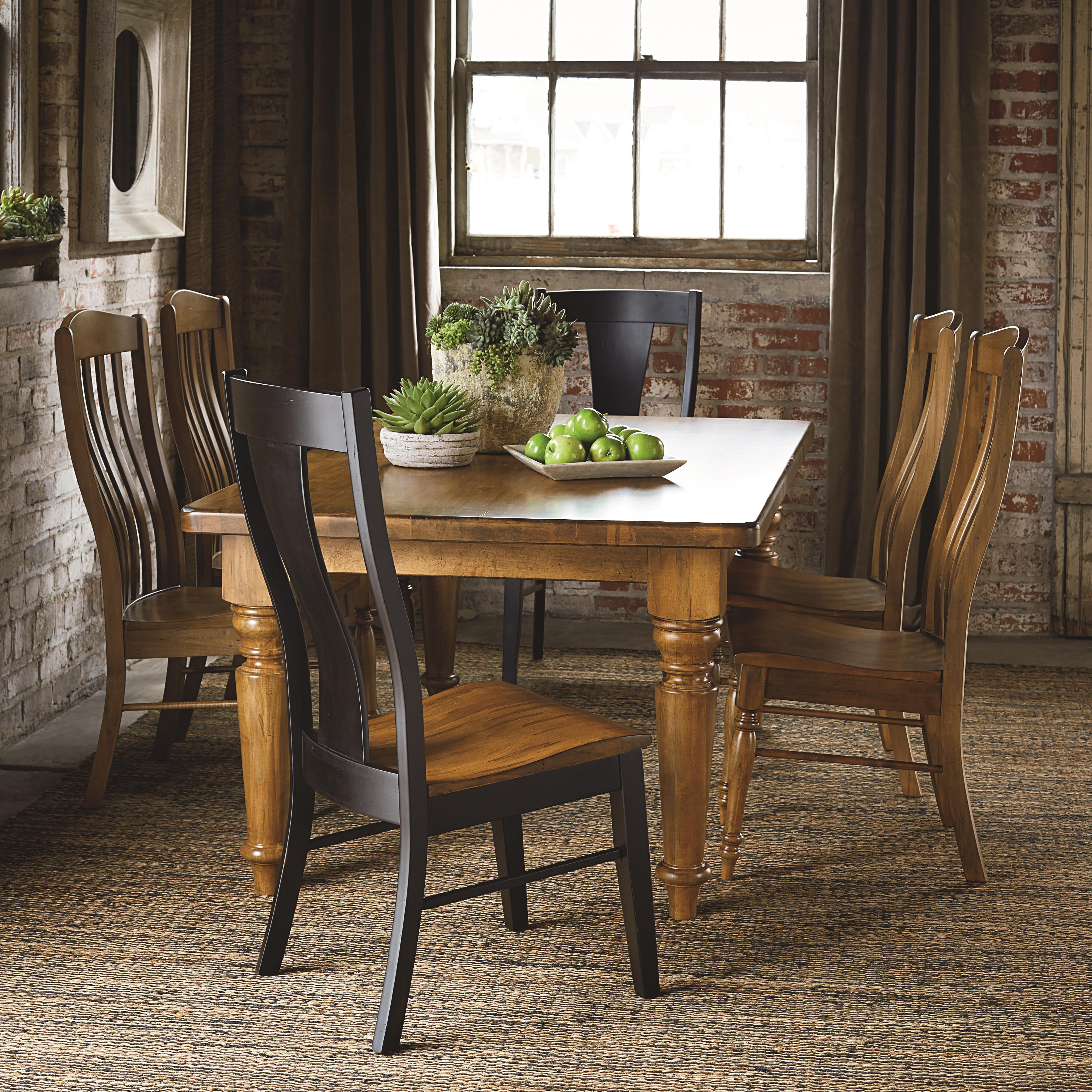 Bench Made Maple Six Person Table Set by Bassett at Bassett of Cool Springs