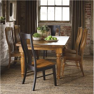 Bassett Bench Made Maple Six Person Table Set
