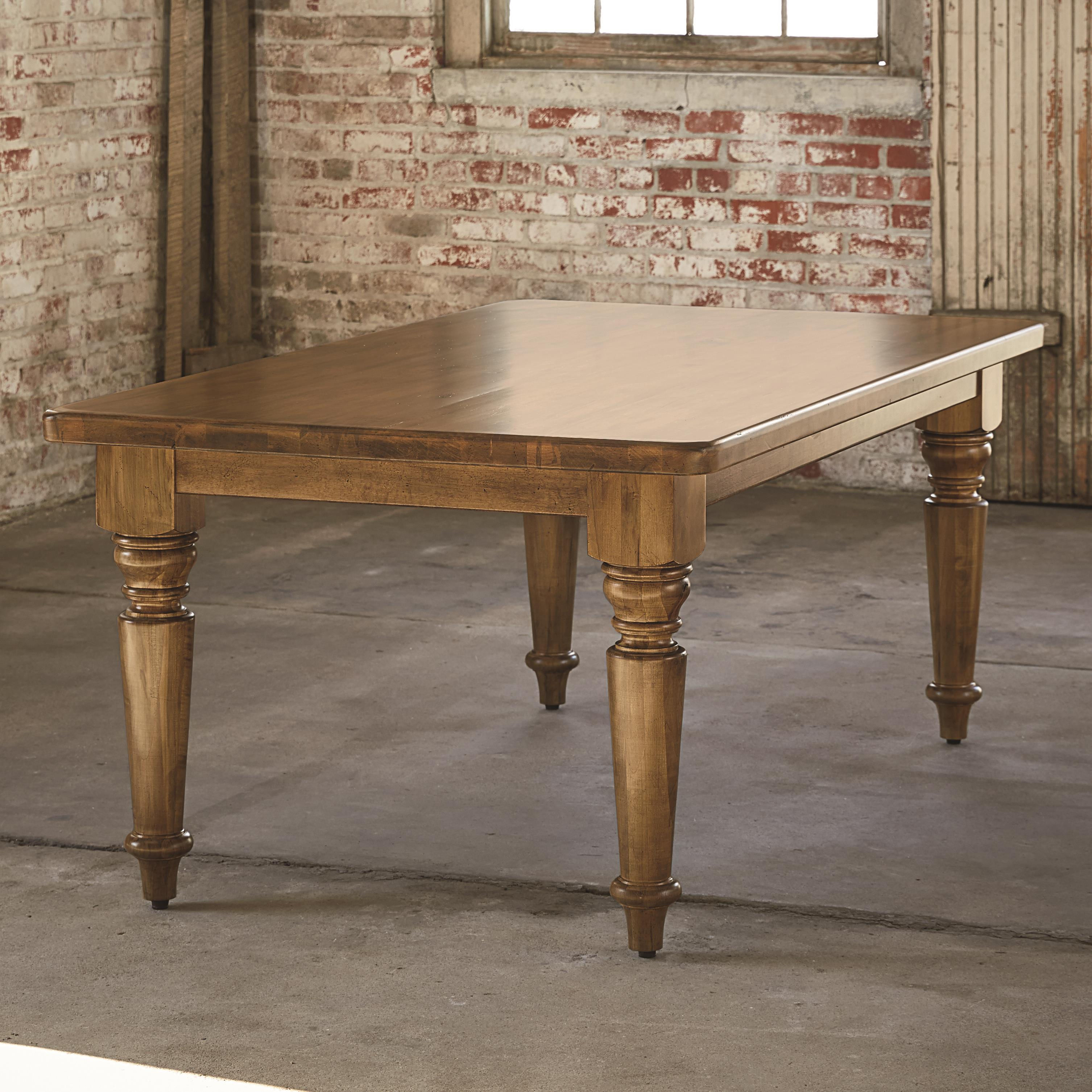 """Bench Made Maple 72"""" Farmhouse Table by Bassett at Wilcox Furniture"""