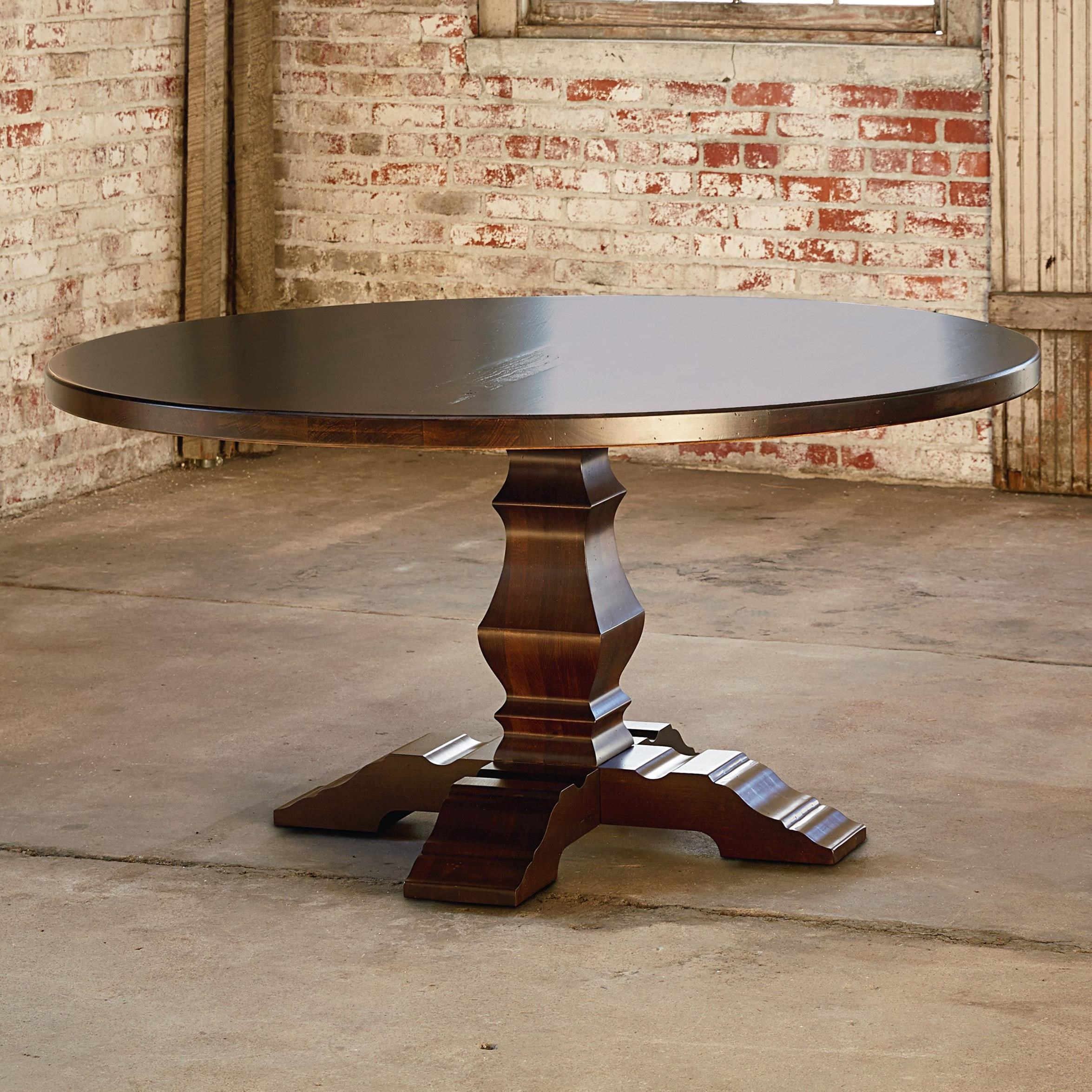 """Bench Made Maple 54"""" Tavern Table by Bassett at H.L. Stephens"""
