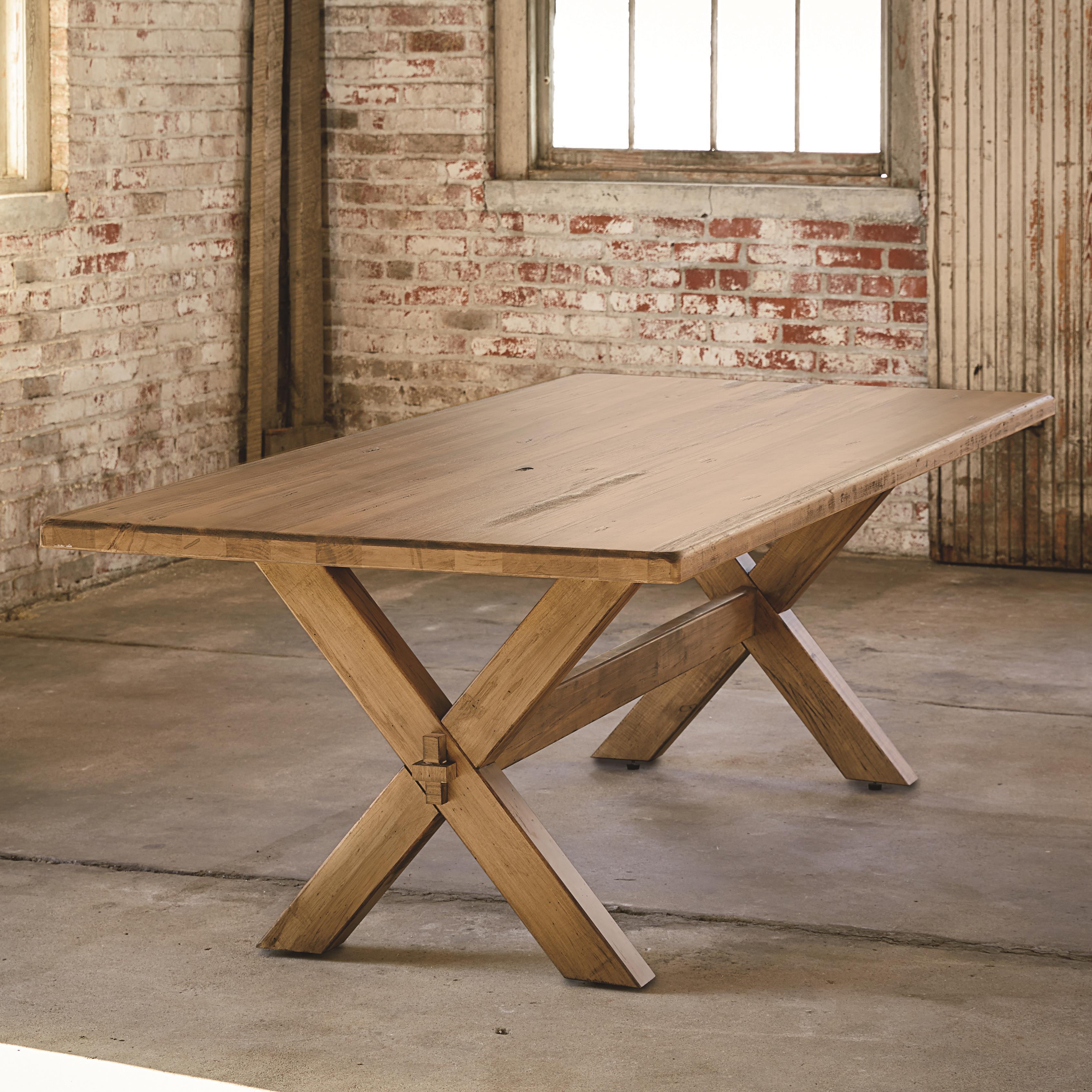 """Bench Made Maple 72"""" Rectangular Table by Bassett at Bassett of Cool Springs"""