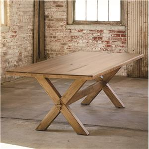 """72"""" Rectangular Table with Industrial Style"""